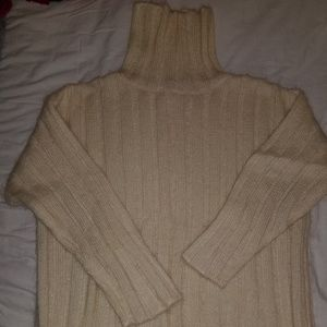 Cream mohair cowlneck sweater